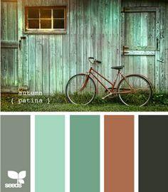 autumn patina - add several shades of white and thats the color pallette for my studio :) love it!!!