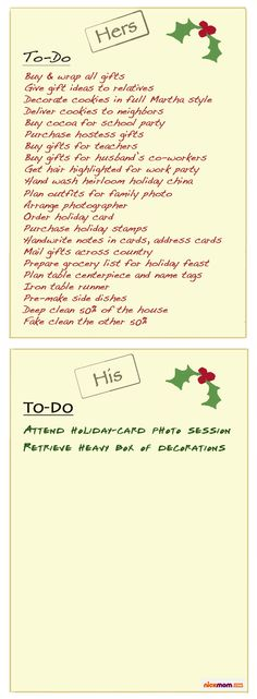 Your Holiday To-Do List vs. Your Husband's Holiday To-Do List | More LOLs & Funny Stuff for Moms | NickMom