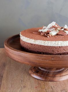mothers day cake: dark chocolate and white coffee mousse cake