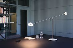 Copérnica Table lamp - / H 60 cm Nickel / White & red by Marset