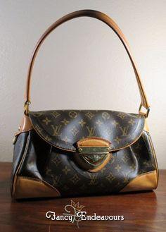 Vintage Louis Vuitton Monogram Canvas Beverly MM Shoulder Bag Purse Handbag #LouisVuitton #ShoulderBag