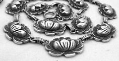 Lovely Sterling DANECRAFT Lily Pad Necklace (item #1279467)
