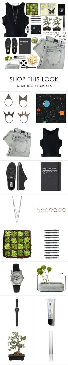 """""""Untitled #262"""" by my-black-wings ❤ liked on Polyvore featuring NLY Accessories, York Wallcoverings, Polaroid, Cheap Monday, WithChic, Vans, Topshop, Miss Selfridge, Iosselliani and BACSAC"""