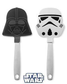 Okay..so I've done my research.. I am now capable of making Stormtrooper pancakes, flipping them with my Stormtrooper spatula, wearing a stormtrooper apron and a stormtrooper helmet. Done deal.