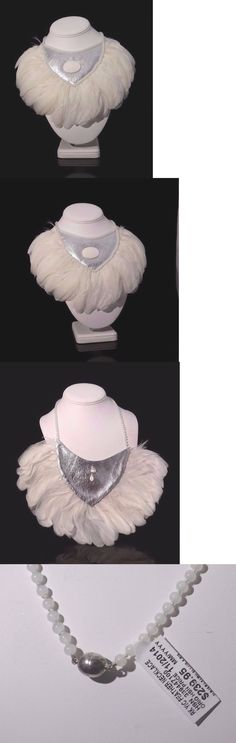 Boas Scarves and Leis 175643: Lot Of15 Ranjana Khan Handcrafted White Feather Leather Statement Necklace $3599 -> BUY IT NOW ONLY: $455 on eBay!