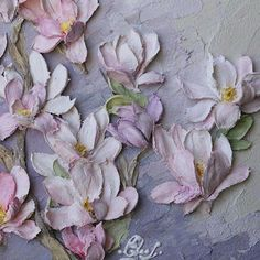 Ideas For Wall Collage Canvas Paint Sculpture Painting, Mural Painting, Wall Sculptures, Paintings, Clay Wall Art, Clay Art, Texture Art, Texture Painting, Flower Crafts