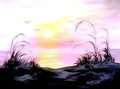 Ocean Sunrise - The Joy of Painting S5E6
