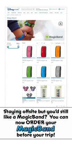 NEW!  You can now order MagicBands from the Disney Store online - Great for people staying off-site that would still like to have MagicBands
