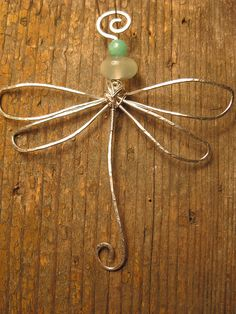 Crossley Design--Sterling silver hand wrapped and hammered dragonfly pendant with jadeite Geek Jewelry, Gothic Jewelry, Jewelry Design, Designer Jewelry, Wire Crafts, Jewelry Crafts, Handmade Jewelry, Wire Wrapped Jewelry, Wire Jewelry