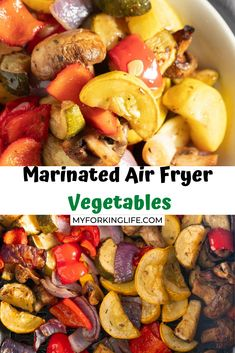 If you are aiming for a healthy side dish for dinner then there is an simple way to have wonderfully marinated vegetables that are roasted with ease in the air fryer. Healthy Side Dishes, Side Dishes Easy, Side Dish Recipes, Lunch Recipes, Vegetable Recipes, Easy Recipes, Dinner Dishes, Food Dishes, One Pot Meals