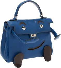 Hermes Limited Edition Bleu Sapphir Gulliver Leather Quelle Idole Mini Kelly Bag