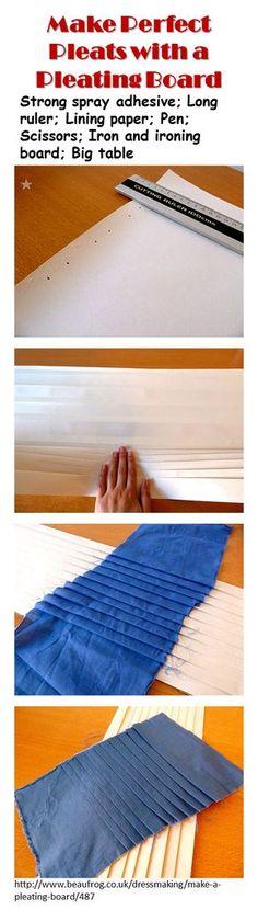Cómo hacer plisados.
