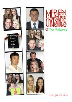 Photo booth themed card--free template download!