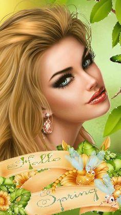 Fantasy Art Women, Beautiful Fantasy Art, Beautiful Gif, Angel Drawing, Amazing Gifs, Gif Photo, Sexy Gif, Female Art, Cute Cats