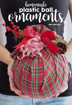 The Best DIY Farmhouse Dollar Store Christmas Hacks Ever! - The Cottage Market Christmas Hacks, Outdoor Christmas, All Things Christmas, Christmas Holidays, Christmas Decorations, Country Christmas, Christmas Projects, Farmhouse Christmas Ornaments Diy, Christmas Ball Ornaments Diy