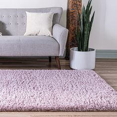 Lavender 3 x 3 Infinity Shag Rug Bed Rug, Solid Rugs, Clearance Rugs, Under Bed, Best Mattress, Large Area Rugs, Home Hacks, Shag Rug, Primary Colors