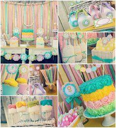 Fiesta en colores pastel