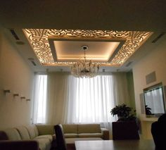 4 Wonderful Useful Ideas: False Ceiling Bedroom Lamps contemporary false ceiling luxury.False Ceiling Design Built Ins false ceiling bedroom gray. Living Design, Ceiling Design Modern, Cove Lighting Design, Ceiling Design Living Room, Ceiling Decor, False Ceiling Design, Living Room Ceiling, Wooden Ceiling Design, Home Decor