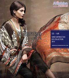 #Sanasafinaz Silk Eid Lawn Collection 2015 Price: PKR 7950 USD: $80 Place your order through Call / SMS / Whatsapp / Viber  ☛{+92-322-3504542}  #EidCollection #SilkLawn #Womensfashion