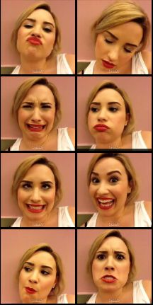 Demi lovato funny faces. One of the many many many reasons I love her. :)