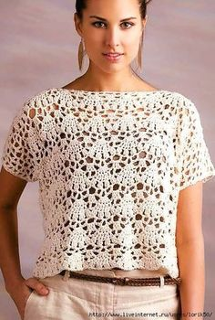 un débardeur simple à faire au crochet Ravelry: Venice Lace Top pattern by NT Maglia Kira scheme crochet: Scheme crochet no. a simple tank top to crochet, it's the kind of model that one absolutely must have in his . This tank top has super-easy c Débardeurs Au Crochet, Cardigan Au Crochet, Pull Crochet, Mode Crochet, Black Crochet Dress, Crochet Tank, Crochet Woman, Tunisian Crochet, Crochet Cardigan