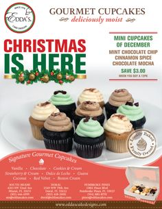 Our mini-cupcake flavors of the month are here! #eddascakes #minicupcakes #happyholidays #holidays #giftidea