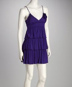 Purple Tiered Dress by Delirious Apparel on zulily today (in pink and blue also)...would be cute over a t-shirt and jeans! :)