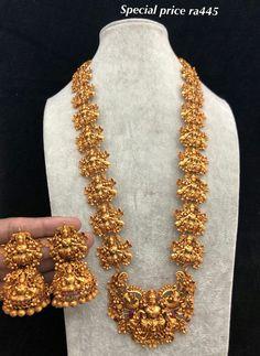 Gold Temple Jewellery, Gold Wedding Jewelry, Gold Jewellery Design, Gold Jewelry, Indian Jewelry Earrings, Diy Kid Jewelry, Jewels, Stud Earrings, Necklaces
