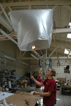 Aerospace Engineering - Candle-powered Hot Air Balloon using bday candles, painters plastic, and some balsa