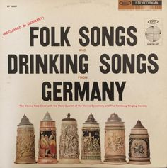 Folk Songs and Drinking Songs from Germany 1959 Vinyl LP Record Album Record: Very Good (VG) Sleeve: Very Good Plus (VG+)
