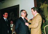 El Gobernador Civil J. Esteban Mompeán y el Presidente de la Diputación, Diego Romero Marín