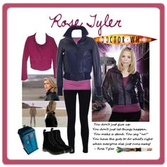 Rose Tyler outfit from Doctor Who by avalonia on Polyvore