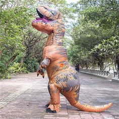 Buy Dinosaur T-REX Inflatable Costume Jurassic Park World Blowup Cosplay Adult Suit at online store Dinosaur Halloween Costume, Halloween Toys, Halloween Dress, Halloween Party, Halloween Costumes, Funny Halloween, Inflatable Costumes, Giant Inflatable, Up Costumes