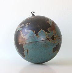 "Vintage Military Globe, Instructional 20"" diameter large globe. $440.00, via Etsy."