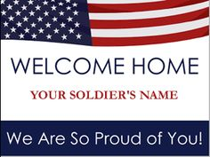 Free Welcome Home Banners.just pay shipping! - I got one for Mossman. You can also design your own :) 8 week turn around time. Welcome Home Son, Welcome Home Signs For Military, Welcome Home Soldier, Welcome Home Banners, Welcome Home Parties, Military Homecoming Signs, Military Party, Military Deployment, Military Mom