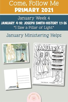 Primary Activities, Primary Lessons, Color Activities, Joseph Smith History, Baptism Talk, Word Puzzles For Kids, Doctrine And Covenants, Lds Primary, Singing Time