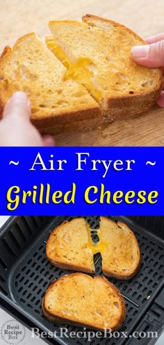 Air Fryer Oven Recipes, Air Frier Recipes, Air Fryer Dinner Recipes, Air Fryer Recipes Grilled Cheese, Grilled Cheeses, Recipes For Airfryer, Air Fryer Rotisserie Recipes, Grill Cheese Sandwich Recipes, Recipes Dinner