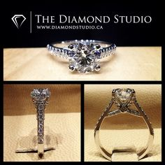 "This is another one of my designs that I have fallen in love with. This design was made with a 1.36ct round cut hearts and arrows cut diamond. The diamond sits on a unique diamond set criss-cross head. The thin shank features diamonds in an Italian pave setting. Ladies and gentleman I'd like to introduce you the ""The Anne"". #diamond #diamonds #wedding #weddings #engagement #ring #rings #bride #brides #jewellery #jewelry #diamondboi"