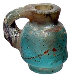 Ancient Roman glass.