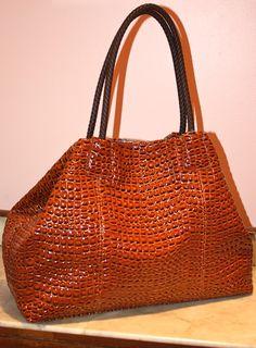 big buddah purse - faux croc!