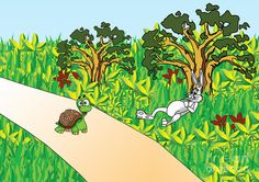 Tortoise and the Hare story Hare & Tortoise, Artwork, Image, Work Of Art, Auguste Rodin Artwork, Artworks, Illustrators
