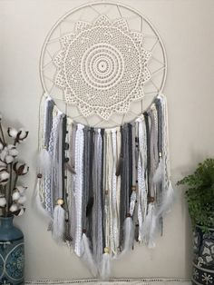 Extra Large Gray Dream Catcher