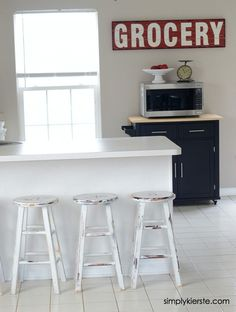 Kitchen Stools Makeover with Glidden | simplykierste.com