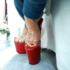 Sexy High Heels, Beautiful High Heels, Hot Heels, Platform High Heels, High Heels Stilettos, Stiletto Heels, Sexy Sandals, Bare Foot Sandals, Jeans With Heels