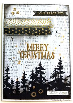 Made by Sannie: O Christmas tree card with video tutorial - #sssmchallenge - It's all about the Christmas Trees this week @simonsaysstamp Monday Challenge
