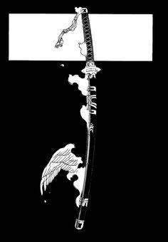 Blue Exorcist- The Demon Sword Blue Exorcist, Ao No Exorcist, Japanese Artwork, Japanese Tattoo Art, Dark Wallpaper, Iphone Wallpaper, Samourai Tattoo, Samurai Wallpaper, Japon Illustration