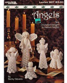Angels Nine Crocheted Designs in Various by grammysyarngarden