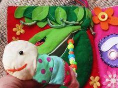フエルトで作る手作り布絵本の作り方【ハンドメイド】: KINACO子育てブログ Busy Book, Watermelon, Templates, Fruit, Design, Baby, Stencils, Vorlage
