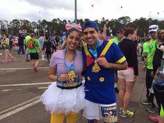 Run Disney - Daisy and Donald Duck running costume