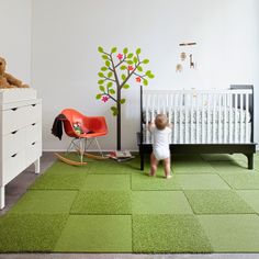 love these green carpet tiles from flor.com-- color is lime